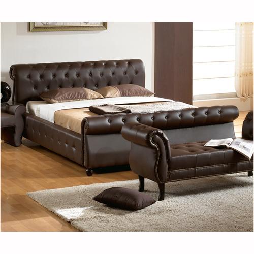 인조가죽 퀸 침대(침대깔판 및 매트리스 별매) DMF-1143