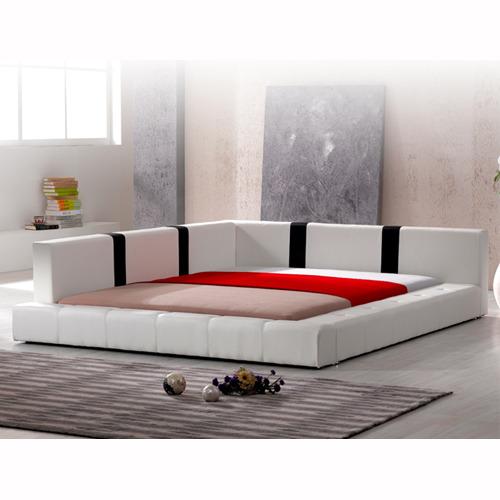 인조가죽 퀸 침대(침대깔판 및 매트리스 별매) DMF-1146